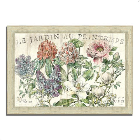 """""""Le Jardin Printemps"""" by Sue Schlabach, Framed Painting, Ready to Hang"""