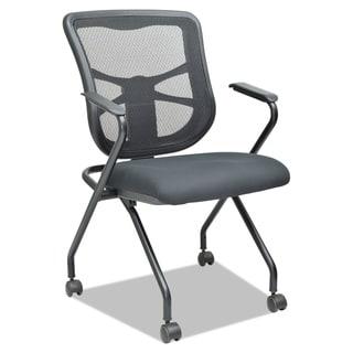 Alera Elusion Black Mesh Nesting Chairs, 2/Carton