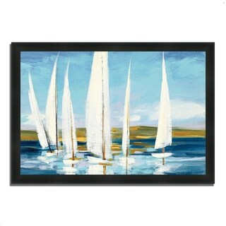 """Horizon"" by Julia Purinton, Framed Painting Print, Ready to Hang"