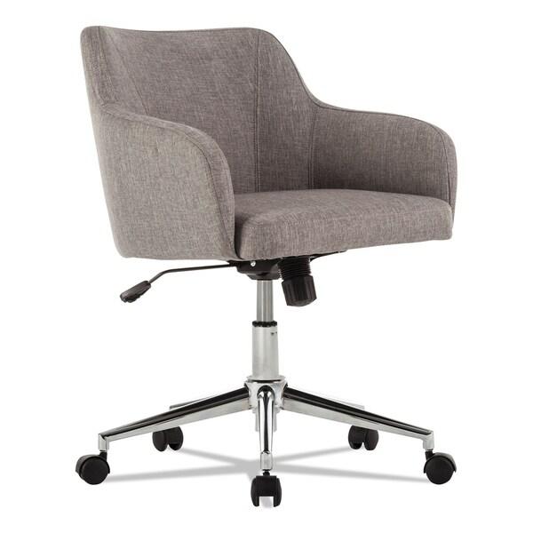 Alera Captain Series Gray Tweed Mid-Back Chair