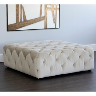 5West Millie Fabric Tufted Ottoman