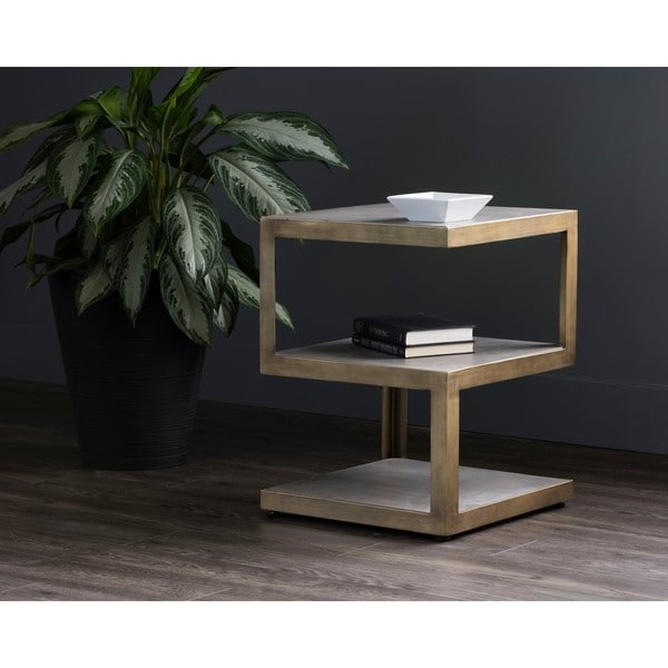 Solterra Rubix Grey End Table