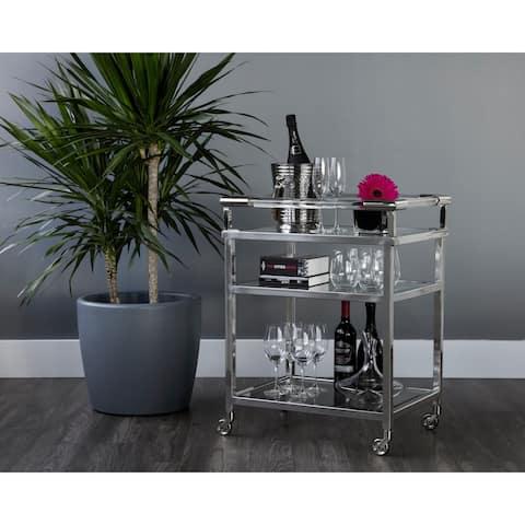 Moncasa Margo Stainless Steel Bar Cart