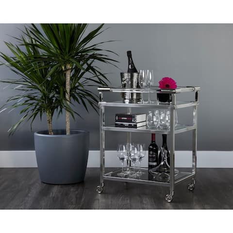 Moncasa Margo Stainless Steel Bar Cart