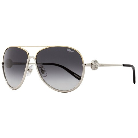 Chopard SCHB23S 0377 Womens Palladium/Gold/Black 62 mm Sunglasses