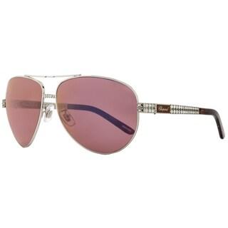 Chopard SCHB24S A75V Womens Shiny Palladium 63 mm Sunglasses - shiny palladium