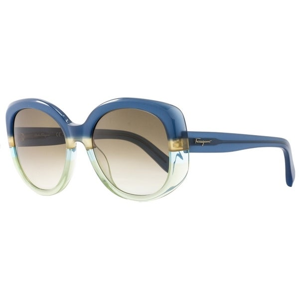 fce93457b6 Shop Salvatore Ferragamo SF793S 447 Womens Blue Green 54 mm Sunglasses -  Free Shipping Today - Overstock - 21852600