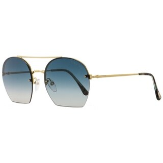 Tom Ford TF506 Antonia 28W Womens Gold/Turqouise Havana 55 mm Sunglasses - gold/turqouise havana