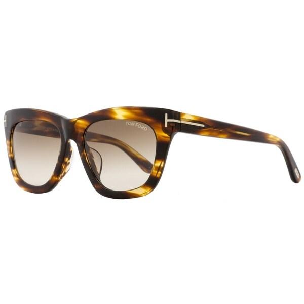 Shop Tom Ford TF361F Celina 50F Womens Striped Brown 55 Mm