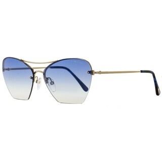 Tom Ford TF507 Annabel 28W Womens Gold/Blue 58 mm Sunglasses