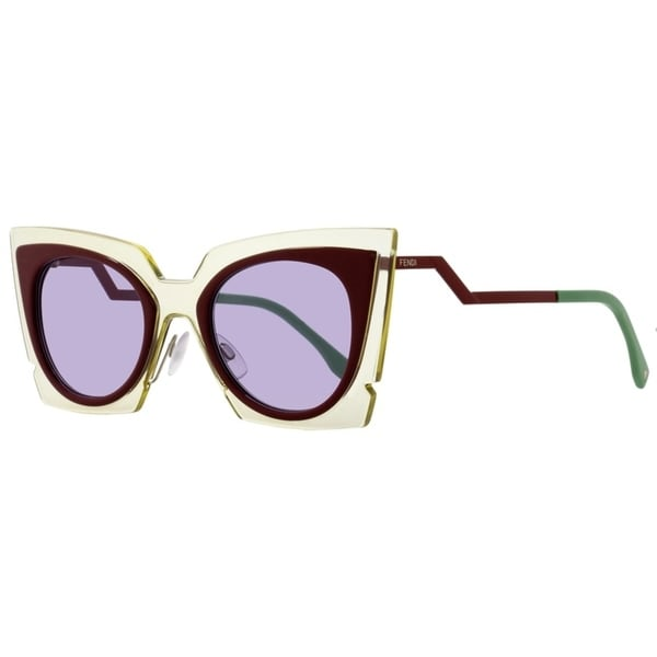 42894ddf9fc5 Shop Fendi FF0117S IC5Y4 Womens Beige Red Burgundy 49 mm Sunglasses -  beige red burgundy - Free Shipping Today - Overstock.com - 21852607