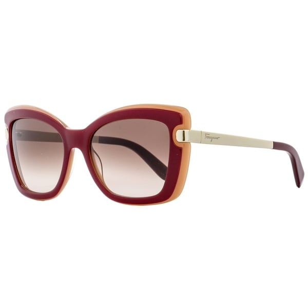 c759e5aefa5 Shop Salvatore Ferragamo SF814S 631 Womens Red Coral Gold 54 mm Sunglasses  - red coral gold - Free Shipping Today - Overstock - 21852615
