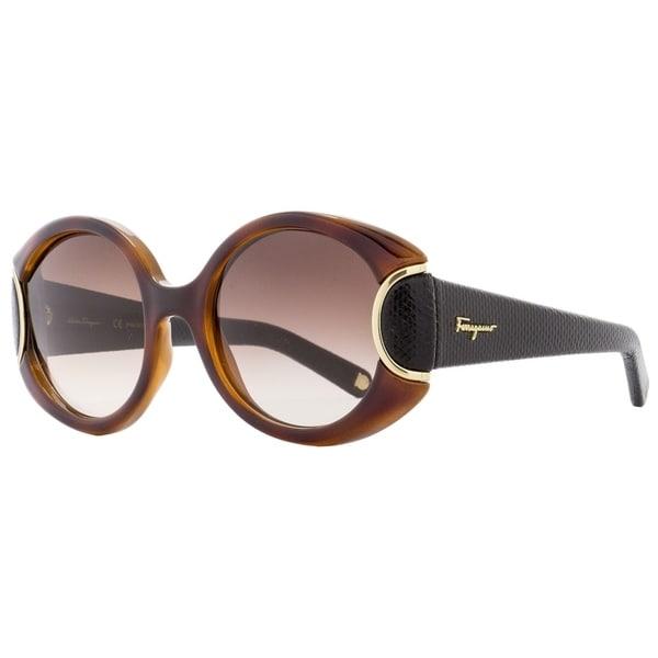 335a639c4d Shop Salvatore Ferragamo SF811SL 233 Womens Havana Black Leather 54 mm  Sunglasses - havana black leather - Free Shipping Today - Overstock -  21852622