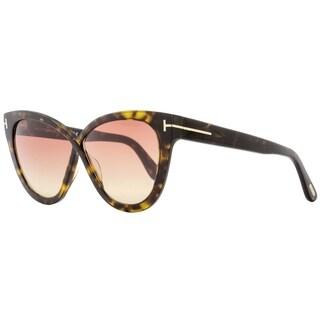 Tom Ford TF511 Arabella 52B Womens Dark Havana/Gold 59 mm Sunglasses - dark havana/gold