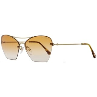 Tom Ford TF507 Annabel 28F Womens Gold/Blonde Havana 58 mm Sunglasses - gold/blonde havana