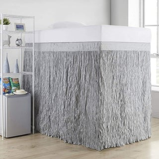 Crinkle Extended Twin XL 60-inch Drop 3 Panel Bed Skirt (As Is Item)