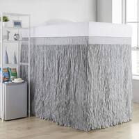 Crinkle Extended Twin XL 60-inch Drop 3 Panel Bed Skirt