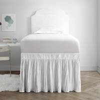 Crinkle Bed Skirt Twin XL (3 Panel Set) - White