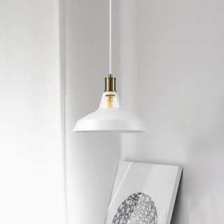 Link to Porch & Den Ardenwood Matte White 1-light Barnyard Pendant Similar Items in Pendant Lights