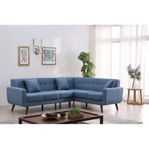 Admirable Shop Kivik Mid Century Modern Right Hand Facing Tufted Short Links Chair Design For Home Short Linksinfo