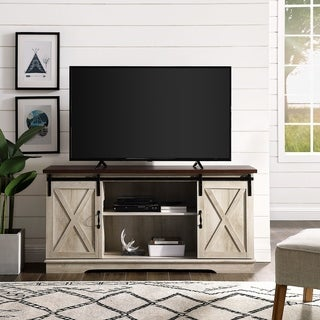 Rustic Sliding Barn Door TV Console