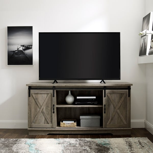Shop The Gray Barn Wind Gap 58 Sliding Barn Door Tv Console On