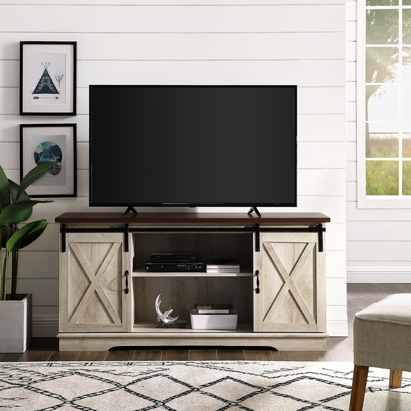 "The Gray Barn Wind Gap 58"" Sliding Barn Door TV Console"