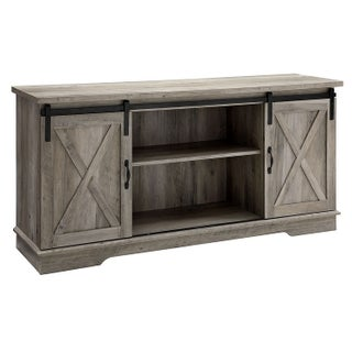 "The Gray Barn Wind Gap 58"" Sliding Barn Door TV Console - 58 x 16 x 28h"