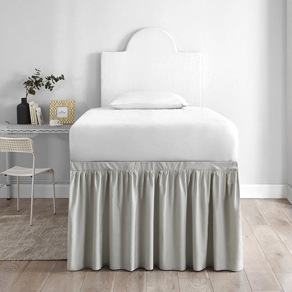 Superbe Twin XL 30 Inch Drop 3 Panel Bed Skirt