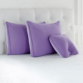 Joy Mangano S/3 Cool Side, Warm Side, Memory Foam Pillows Lavender