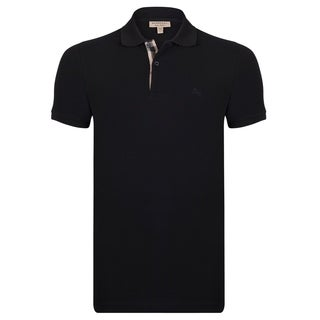 Men's Burberry Short Sleeve Black Polo Shirt