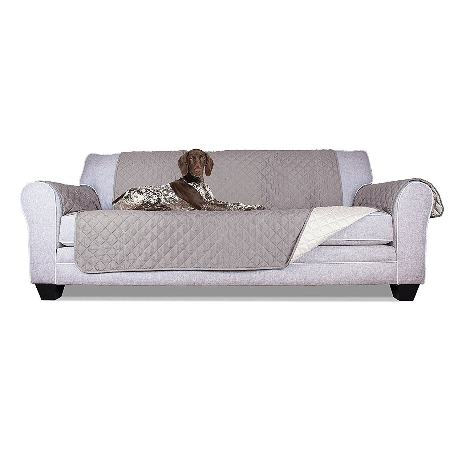 Fine Aleko Grey Pet Friendly Sofa Furniture Protector Onthecornerstone Fun Painted Chair Ideas Images Onthecornerstoneorg