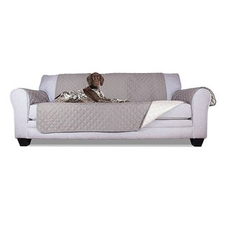 "ALEKO Pet Scratch Protection Furniture Sofa Slipcover 110"" x 71"" Grey"