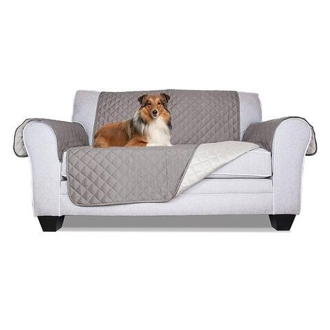 ALEKO Grey Pet Friendly Loveseat Furniture Protector - Chair
