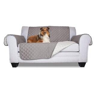 ALEKO Grey Pet Friendly Loveseat Furniture Protector - Chair (As Is Item)