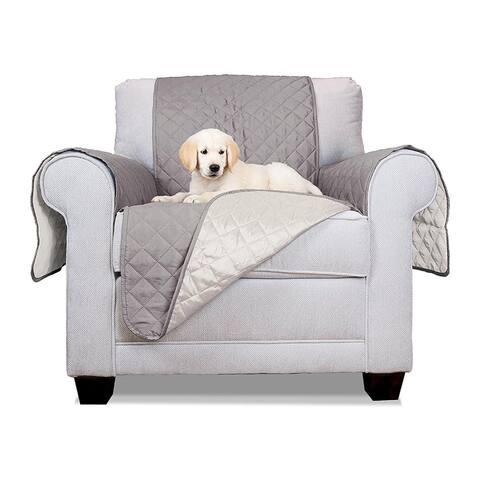 ALEKO Grey Pet Friendly Chair Furniture Protector