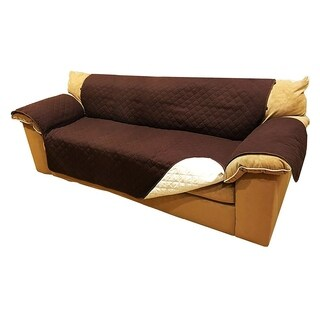 "ALEKO Pet Scratch Protection Furniture Sofa Slipcover 110"" x 71"" Brown"