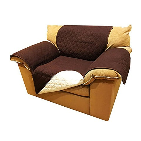 """ALEKO Pet Protection Furniture Chair Couch Slipcover 65"""" x 70"""" Brown"""