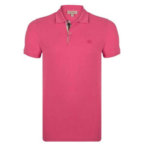 Men's Burberry Short Sleeve Raspberry Sorbet Polo Shirt