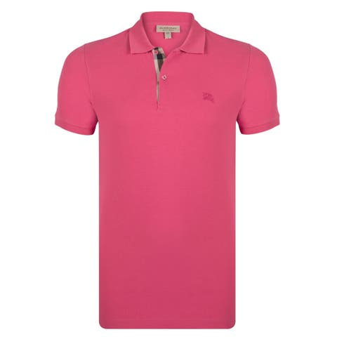 Men's Burberry Short Sleeve Raspberry Sorbet Polo Shirt