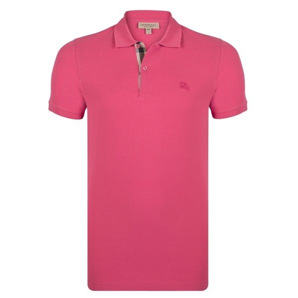 daef1036b Shop Men s Burberry Short Sleeve Raspberry Sorbet Polo Shirt - On ...