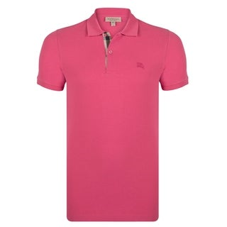 Men's Burberry Short Sleeve Raspberry Sorbet Polo Shirt (5 options available)