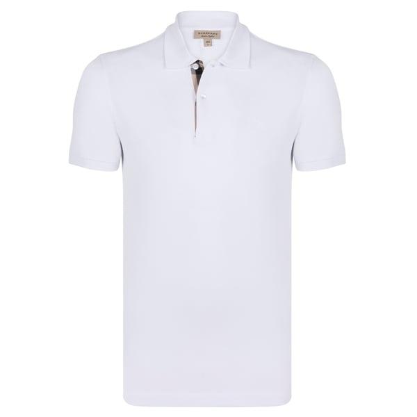 fd29621641a4f7 Shop Men's Burberry Short Sleeve White Polo Shirt - On Sale - Free ...
