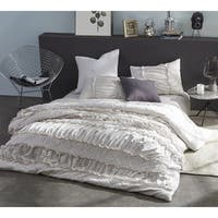 BYB Ruffle Pleats Oversized Duvet Cover - Jet Stream