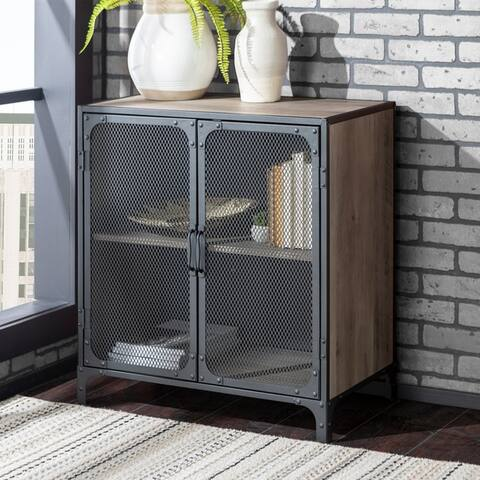 Carbon Loft Pierpont Metal Mesh 2-door Accent Cabinet