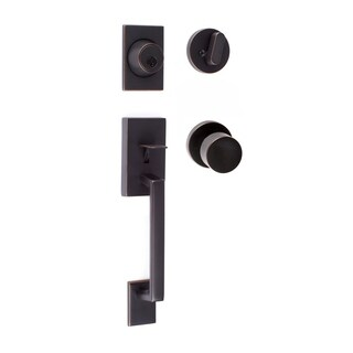 Sure-Loc Koln Modern Series Entrance Handleset with Round Thumb Turn
