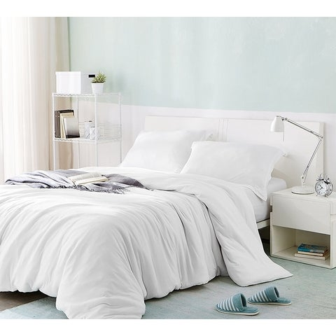 BYB Bare Bottom Duvet Cover - White