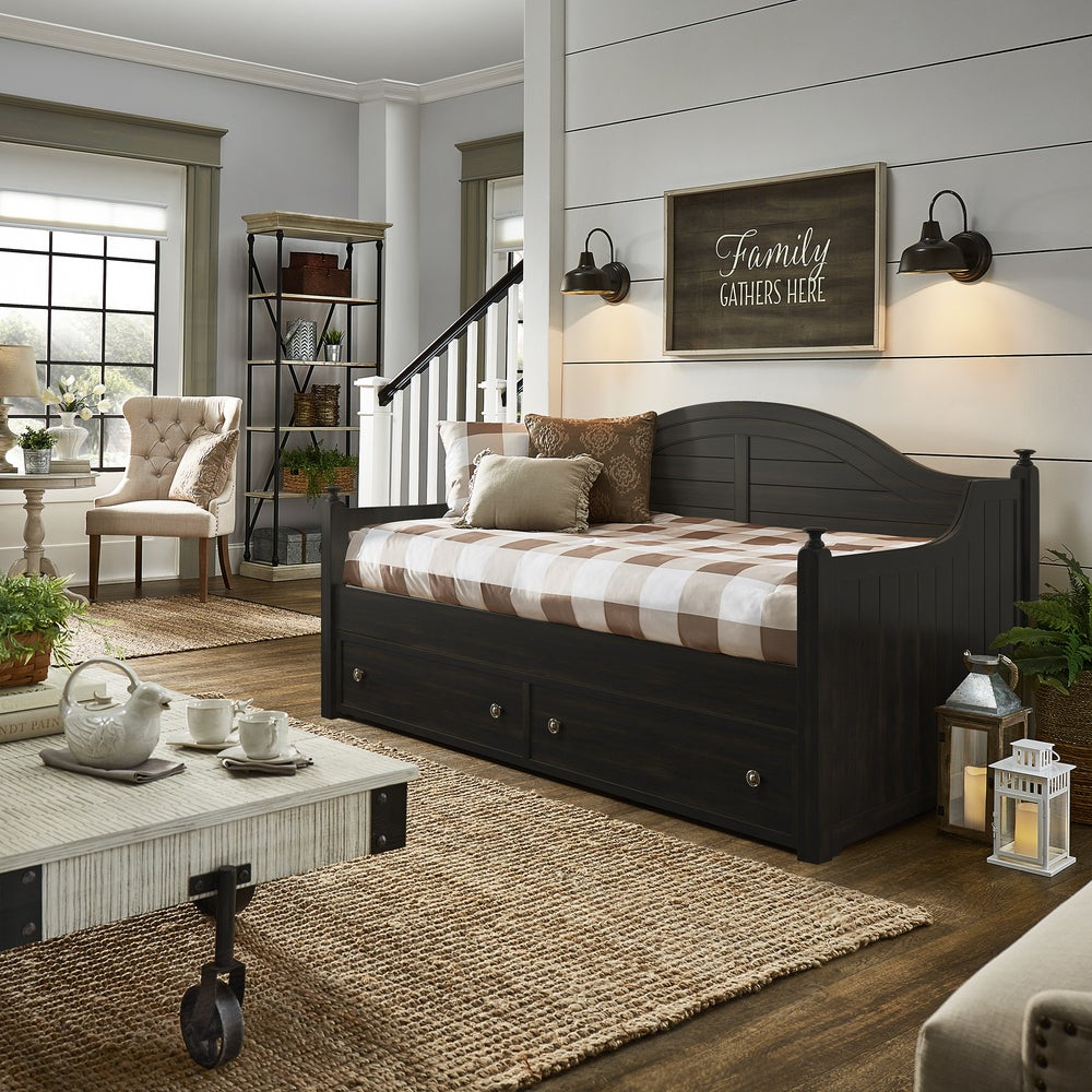 - Shop Addison Traditional Paneled Wood Daybed And Trundle By