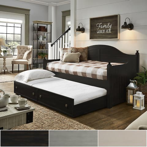 Addison Traditional Paneled Wood Daybed and Trundle by iNSPIRE Q Classic