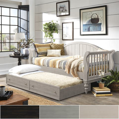 Wallace Traditional Wood Slat Daybed and Trundle by iNSPIRE Q Classic